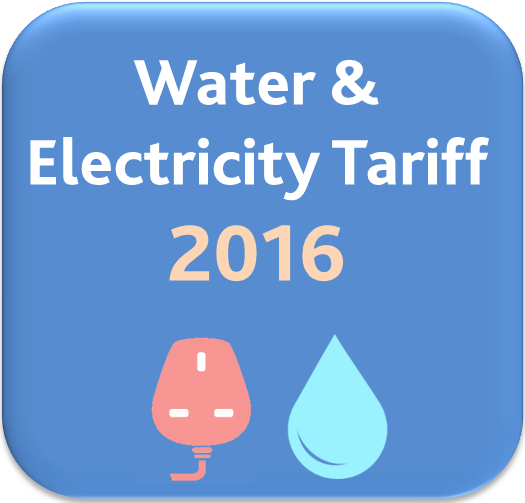 Water and Electricity Tariff for 2016